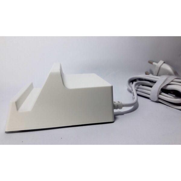 Cargador fijo multifuncional, con soporte y 4 puertos USB.